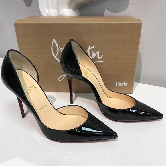 2fece0de9f Christian Louboutin Shoes - Christian Louboutin Iriza 100 Black Patent - SZ  38